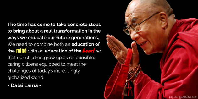 dali lama on education